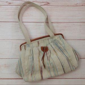 Vintage 80s Richmark Preppy Striped Boho Handbag